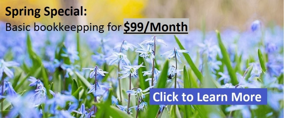 Calgary Bookkeeping Spring Special of $99/month
